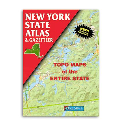 Hunting Complete topographic maps of the entire state of New York--details include back roads, backwater lakes and streams and campgrounds - $19.95