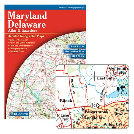 Fitness This atlas of 55 detailed topographic maps of Maryland and Delaware is supplemented with recreational, natural and historical information. - $19.95