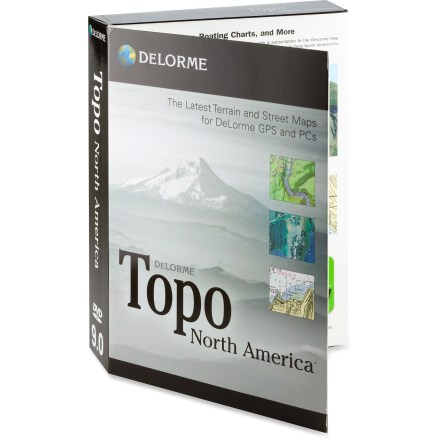 Camp and Hike DeLorme Topo North America 9.0 is a comprehensive computer mapping program for outdoor recreation. It offers unsurpassed maps, imagery, trip planning and GPS-compatable capabilities. - $24.83