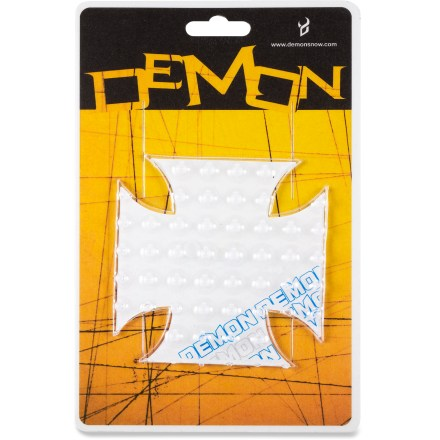 Snowboard Get a grip with the Demon Cross Stomp pad. It keeps your boots and bindings free of snow. Attaches with acrylic adhesive. Package of 1. - $3.83