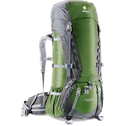 Camp and Hike This deluxe backpack features a pivoting suspension, dedicated sleeping bag pocket, and plenty of external pockets to keep you and your gear comfortable and organized on extended backcountry trips. - $230.93