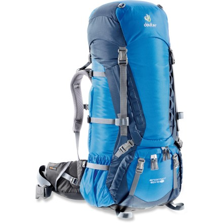 Camp and Hike The Deuter Aircontact 60 + 10 SL pack is a feature-rich gear hauler. Enjoy its quality, durability, capacity and comfort on your next  long weekend in the wilderness. - $160.93