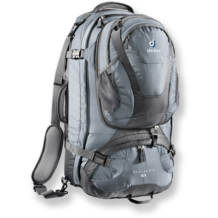 Camp and Hike The Deuter Traveller 55 + 10 SL is a comfortable-carrying travel pack with enough space for all items you might need for a long-distance trip. Fit in spontaneous purchases with its expandable volume. - $68.93