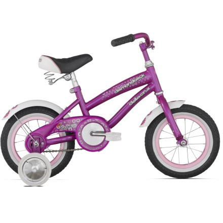 Fitness A great first bike, the Diamondback Lil Della Cruz 12 in. kids' bike features plenty of style and removable training wheels for budding riders. - $139.00