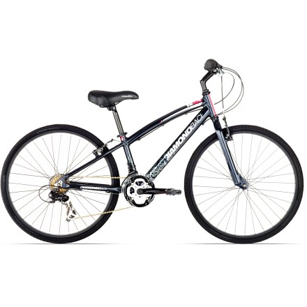 Fitness A comfort-oriented hybrid for kids, the Diamondback Insight 24 in. bike offers an upright riding position and speedy road efficiency for riding to school or keeping up on weekend rides. - $309.00