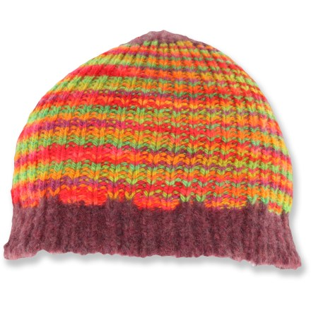 Entertainment Add a splash of color to a gray winter day with the Dohm Handpaint hat. Wool exterior is lined with polyester fleece for great warmth and comfort. - $7.83