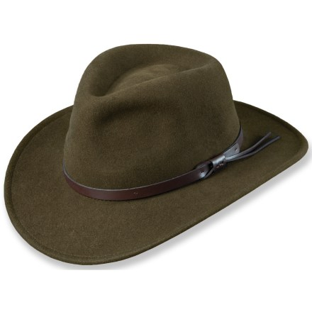 This stylish Dorfman Pacific All Season Crushable hat features great looking fedora styling with a western flair-excellent and affordable headwear for outdoor adventurers. - $45.00