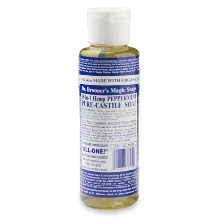 Camp and Hike Made of all-natural ingredients, Dr. Bronner's organic liquid soap is ideal for camping, as it is gentle on the environment - $4.50