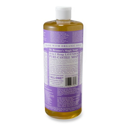Camp and Hike Made with organic oils and all-natural ingredients, Dr. Bronner's organic liquid soap is ideal for camping because it is biodegradable and gentle on the environment. - $18.00
