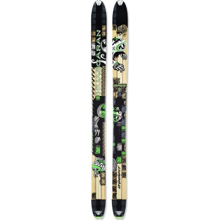 Ski Named for the 22,205 ft. peak in Peru, the Dynafit Huascaran skis thrive at high speeds on steep, powder-filled slopes. - $319.83