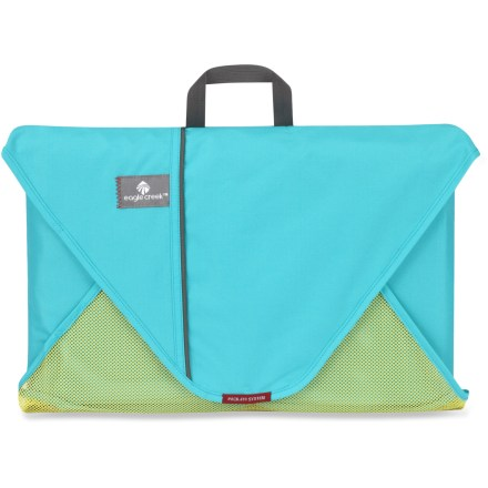 Entertainment This Eagle Creek Pack-It Folder neatly folds and packs bulky clothing for compact, simplified travel with minimal wrinkles. Capacity varies, depending on garments packed; the 20 in. size is designed to fit 12 - 15 large, bulky items. Polyester construction delivers durability and a low weight. Includes folding board with instructions on folding clothes for wrinkle-free travel. - $20.93