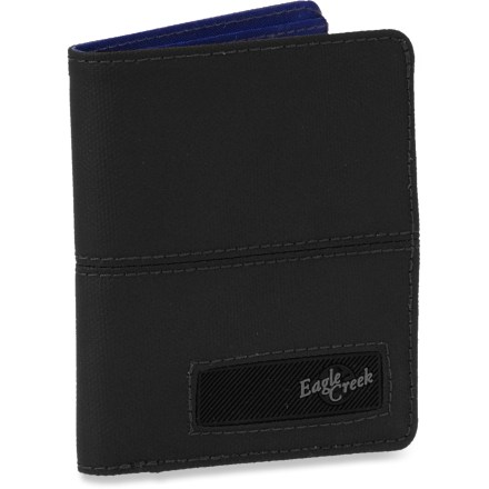 Entertainment Simple and slim, the Eagle Creek Turnstile Bi-Fold wallet carries your cash, ID and cards for for overseas travel-or for simply going about your typical day's business. Full-length bill slot, hidden bill compartment, 3 credit card slots, ID window and 3 multipurpose pockets let you keep your wallet organized. Constructed of lightweight and durable nylon with thermoplastic polyurethane reinforcements for lasting use. - $19.50