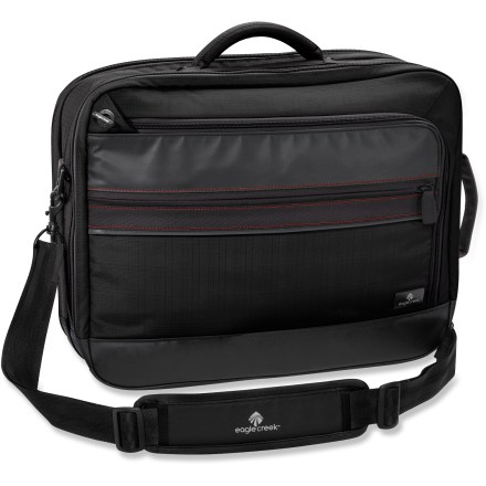 Entertainment The Eagle Creek Dane is a briefcase that can be carried with a shoulder strap, grab handle or backpack straps. It also safely carries your laptop in a checkpoint-friendly design. - $111.93