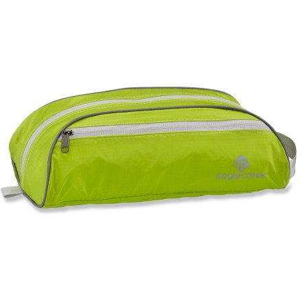 Entertainment The Eagle Creek Pack-It Specter Quick Trip is an ultralight toiletry organizer. This small, duffel-style toiletry bag is just the right size for a quick trip up the coast or a weekend away. - $24.95