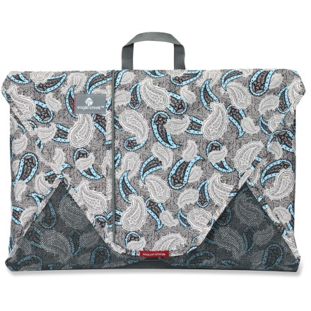 Entertainment Built for savvy travelers, the 20 in. Eagle Creek Pack-It Folder lets you pack more clothes in less space-and it minimizes wrinkles! Capacity varies, depending on garments packed; the 20 in. size is designed to fit 12 - 15 large items. Made with lightweight EcoLite(TM) partially recycled fabric. Includes instructions on folding clothes for wrinkle-free travel. Closeout. - $14.83