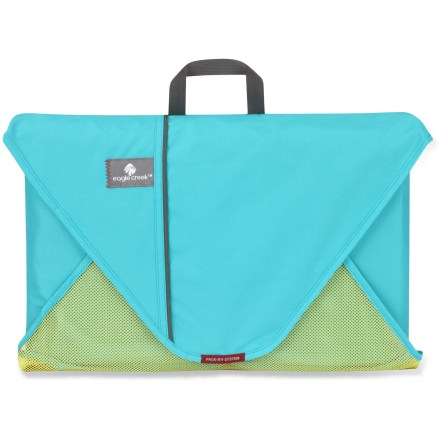Entertainment Bring more without taking up room with the Eagle Creek 15 in. Pack-It folder. Capacity varies, depending on garments packed, but the 15 in. size is designed to fit up to 7 shirts. Partially-recycled polyester and mesh construction is lightweight and durable. Includes folding board with instructions for folding clothes to keep them wrinkle free. Fits in most carry-on bags. Closeout. - $13.93