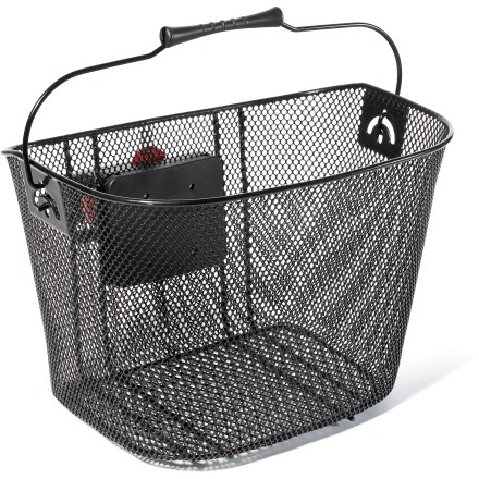 Fitness This quick-release wire bike basket from Electra holds your personal items while cruisin' down the road. - $40.00
