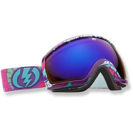Snowboard EG2.5 snow goggles are best suited for small faces and offer a clear, wide field of vision. An oversize lens offers superior peripheral vision. Oversize spherical, dual polycarbonate lens offers excellent clarity and accuracy, and is engineered to provide a full field of vision. EG2.5 goggles feature an anti-reflective coating that absorbs light and reduces glare that hampers visibility. Features long-lasting antifog treatment and scratch-resistant hard coating. Lightweight, contoured frame features ergonomic, triple-layer face foam. Vent foam promotes breathability and keeps out excess wind and moisture. Adjustable strap is helmet compatible. Bronze-tinted lens enhances shadow contrast and can be used in bright sun to cloudy conditions. EG2.5 snow goggles come with a microfiber goggles bag. Closeout. - $84.73