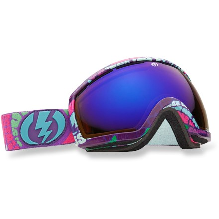 Snowboard EG2.5 Tune-In snow goggles are best suited for small faces and offer a clear, wide field of vision. An oversize lens give you superior peripheral vision. Oversize spherical, dual polycarbonate lens offers excellent clarity and accuracy, and is engineered to provide a full field of vision. EG2.5 goggles feature an anti-reflective coating that absorbs light and reduces glare to improve visibility. Features long-lasting antifog treatment and scratch-resistant hard coating. Lightweight, contoured frame features ergonomic, triple-layer face foam. Vent foam promotes breathability and keeps out excess wind and moisture. Adjustable strap is helmet compatible. Bronze-tinted lens enhances shadow contrast and can be used in bright sun to cloudy conditions. EG2.5 Tune-In snow goggles come with a microfiber goggles bag. Closeout. - $88.73