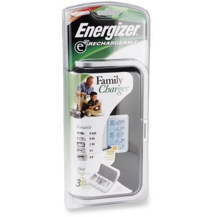 Camp and Hike With the Energizer Family Charger you can recharge nearly any size battery, including AA, AAA, C, D and even 9-volt batteries. - $14.83