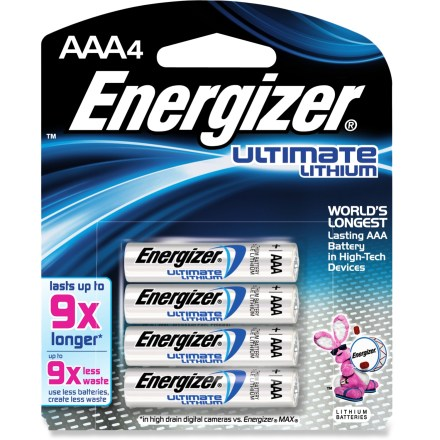 Camp and Hike This pack of 4 Energizer(R) e2(R) lithium batteries deliver long-lasting power to keep up with today's high-tech, power-hungry cameras and flash units. - $10.95