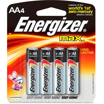 Camp and Hike Choose these AA Energizer MAX alkaline batteries for hours of power in flashlights or any electrical device requiring a AA battery power source. - $4.95