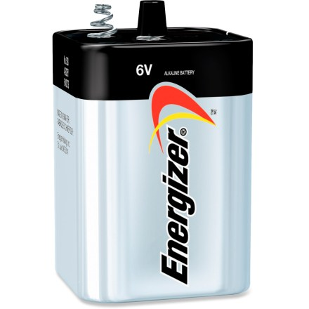 Camp and Hike This Energizer MAX Alkaline 6V battery is typically used for electric lanterns or large flashlights. - $12.95
