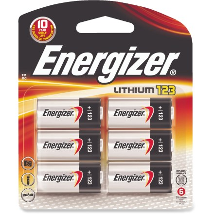 Camp and Hike This package of 6 Energizer 123 lithium batteries provides long-lasting power for your film and digital cameras, and other similar electronics. - $15.95
