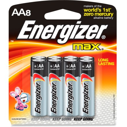 Camp and Hike Grab these AA Energizer MAX alkaline batteries for hours of power in flashlights or any electrical device requiring AA battery power source. - $8.95