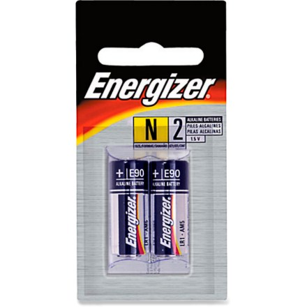 Camp and Hike This package of 2 Energizer N alkaline batteries provides long-lasting power for your digital camera and other small electronics. - $3.95