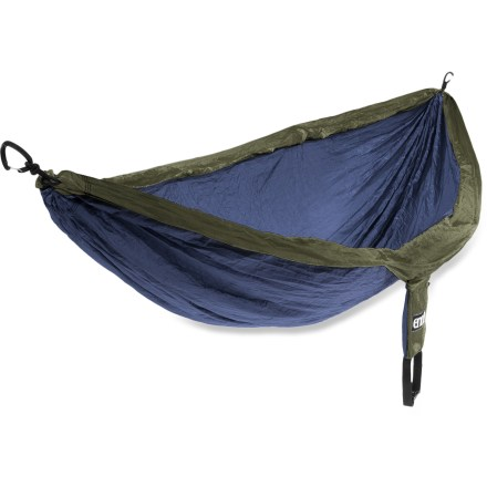 Camp and Hike Light and compact enough for backpacking, yet robust enough for backyard luxury, the popular ENO DoubleNest Hammock sets up in seconds and has plenty of room for 2. - $69.95