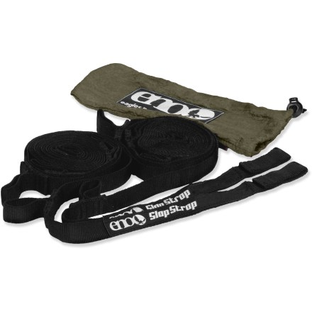Camp and Hike Have your hammock set up in seconds with ENO's SlapStrap system. - $15.93