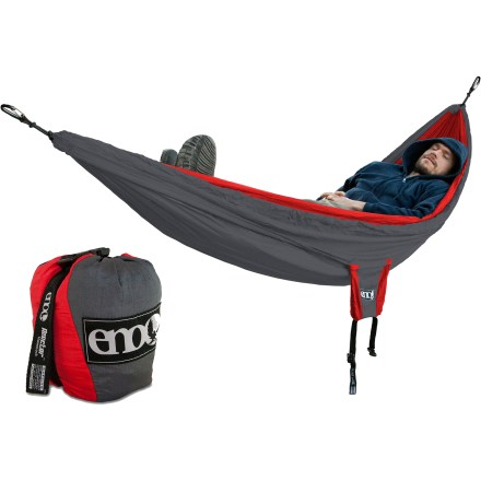 Camp and Hike If you've ever put a sleeping pad in your hammock, you know how the thing never wants to stay in one place. This camping hammock solves the problem with a sleeve to keep your pad secure. - $65.93