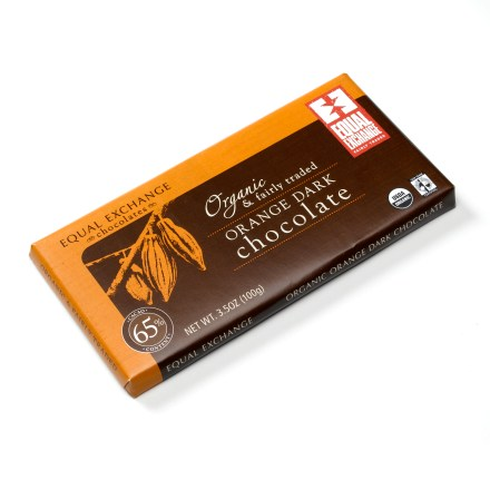 Camp and Hike Made with only the finest fair trade ingredients, an Organic Chocolate Bar from Equal Exchange will satisfy your sweet tooth and your conscience. - $3.50