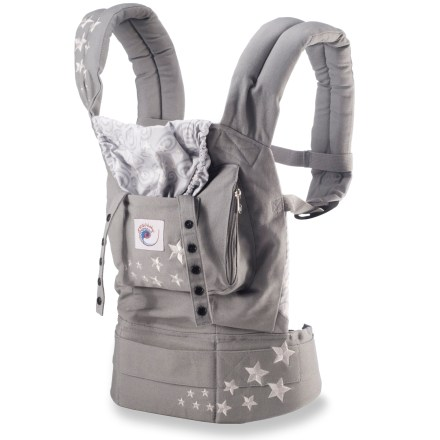 Camp and Hike This padded carrier features an adjustable sleeping hood and provides an ergonomic posture design that supports your baby's hips, pelvis and spine growth while you're on the move and as they grow. - $79.93