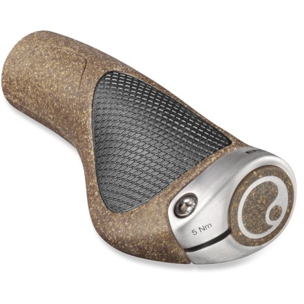 MTB Offering a stable platform, the Ergon GP1 BioKork handlebar grips use natural cork to enhance comfort and support under your palms when mountain biking, commuting or just riding about. - $27.93