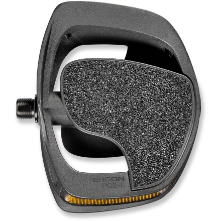 MTB The Ergon PC2 pedals facilitate improved ergonomics and efficiency at the crucial foot/pedal contact point in an everyday-shoe-friendly design. Pedal on! - $47.93