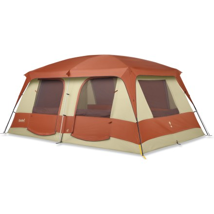 Camp and Hike The Eureka Copper Canyon 5 + Screen Room is a spacious and sturdy cabin-style tent that sleeps 5, and has a separate screen room for hanging out, bug free! - $299.93