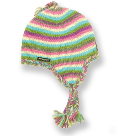 Entertainment The toddlers' Everest Designs Stripe Earflap hat will keep your wee one's head warm in a winter wonderland. Warm, breathable wool knit supplies excellent insulation, even when wet. Soft, non-pilling polyester fleece lining provides good thermal retention. Earflap design provides full coverage for optimal warmth. Hand wash in cold water and lay flat to dry. - $18.93