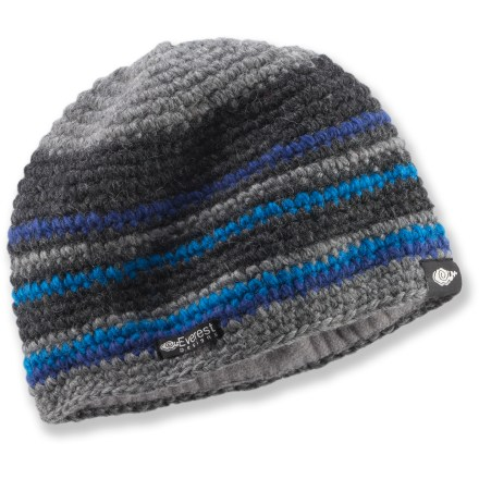 Entertainment The Everest Designs Pumori beanie with a soft fleece lining is toasty warm and sharp looking. - $6.83