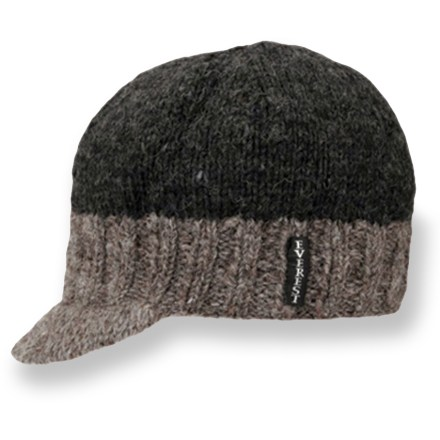 Entertainment Grab the fleece-lined Everest Designs Knit Cap visor when the weather turns cold. Made with soft, breathable wool, it will keep you warm while waiting for the bus or the gondola. Hand knit in Nepal with New Zealand sheep wool; fully lined with fleece for comfort next to skin. Short visor adds style and keeps snow and sun out of your eyes. - $22.93
