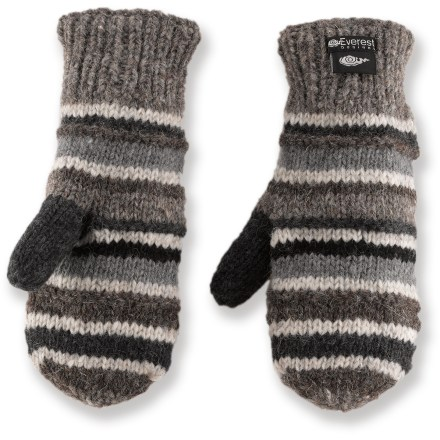 Go out into the cold and enjoy the day with the warm Everest Designs Black Stripe Tech mittens. - $34.95