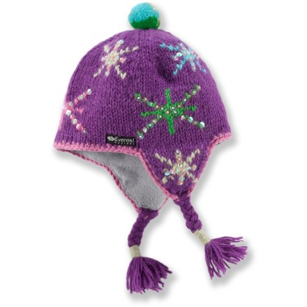 Entertainment The toddlers' Everest Designs Twinkle earflap hat combines the warmth of wool and the softness of polyester fleece. It's the perfect choice for keeping young heads warm as the temperature drops. - $6.83