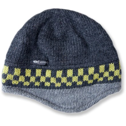 The woolly Everest Designs Hotstepper Pilot hat with a soft fleece lining is toasty warm and sharp looking. - $16.83