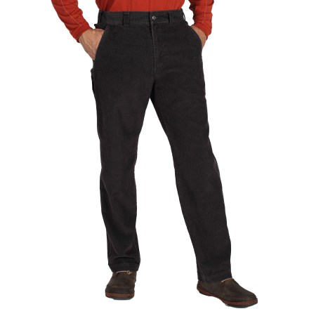 Camp and Hike Get ready for a fall season full of adventure with the ExOfficio FlexCord(TM) pants. They're great for travel, a day at the office or a casual trip through town. Comfortable cotton/polyester/spandex corduroy is garment washed for a soft hand; fabric resists wrinkles to keep you looking sharp on the go. Fabric stretches and dries quickly to keep you moving along in comfort. 2 front hand pockets stow your daily goods; hidden zippered pocket within the left-front hand pocket secures small valuables. 2 rear patch pockets and a drop-in cell phone pocket on the right leg provide additional storage space. The ExOfficio FlexCord pants have a natural fit. - $42.83