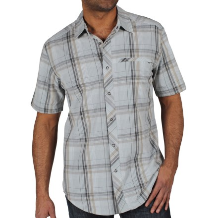 The ExOfficio Roughian Macro Plaid shirt is a great choice for style and comfort, whether hanging out or traveling abroad. - $23.73