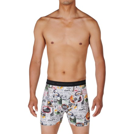 The ExOfficio Give-N-Go Sight Seek'r boxer briefs keep you comfortable throughout the day. Made from a blend of nylon and spandex, the fabric wicks moisture and dries quickly. Tag-less design. Closeout. - $20.93