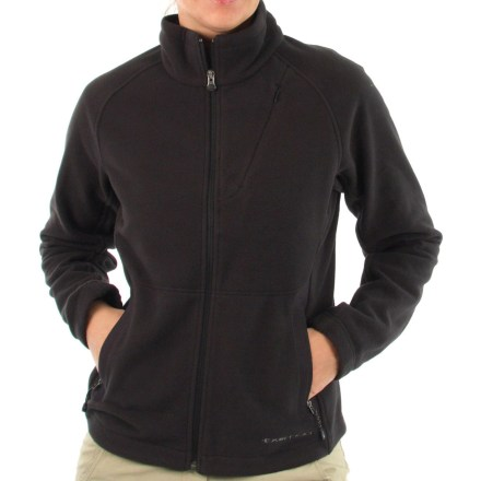 The ExOfficio Wind Logic jacket helps keep cold gusts at bay. Polartec(R) Wind Pro(R) lightweight fleece offers higher wind resistance than traditional fleece without compromising breathability. Critical seams are moved off the shoulder for comfort. Jacket featuers an internal pocket, vertical zippered chest pocket and zippered handwarmer pockets. Elastic-lined hem keeps the cold out. Closeout. - $67.73