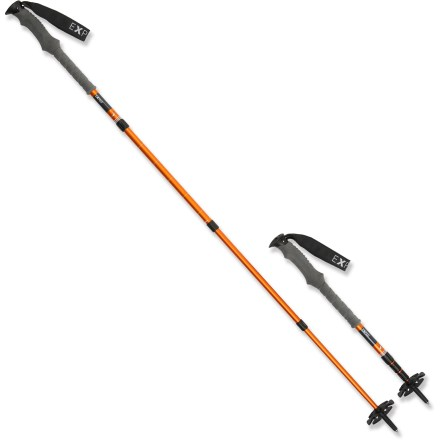 Camp and Hike The light and sturdy Exped Explorer 130 trekking poles feature 4 sections, allowing them to collapse down to a mere 20.5 inches in length for superb packability. - $119.93