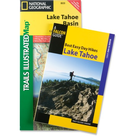Camp and Hike Hiking Guide and Trail Map Bundle: Lake Tahoe includes Best Easy Day Hikes Lake Tahoe and a Trails Illustrated Lake Tahoe Basin trail map. - $9.93